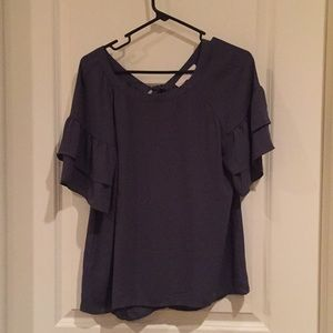 Brand new charcoal short sleeve blouse
